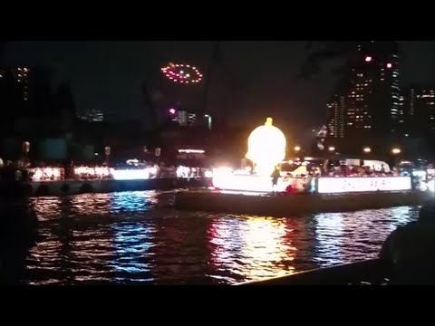 日本三大祭り「天神祭」船渡御ー奉納花火2016