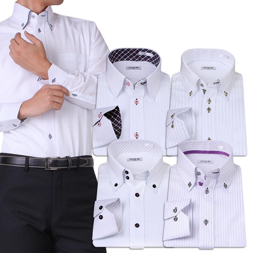 ワンポイントアクセントデザインのメンズワイシャツ